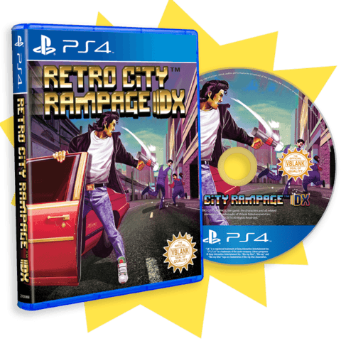 Retro City Rampage DX ps4 box rare